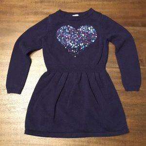 Gymboree  Sequin Heart Sweater Dress. Girls Size 5